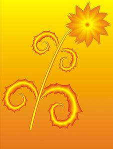 Free Golden Flower Stock Image - 6309621