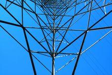 Free Steel Electricity Pylon Royalty Free Stock Photo - 6309695