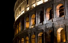 Night Coliseum Royalty Free Stock Photo