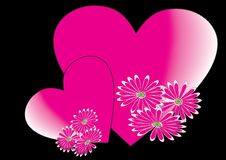 Free Hearts With Flower Royalty Free Stock Photography - 6309947