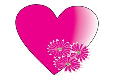 Heart With Flower Stock Image