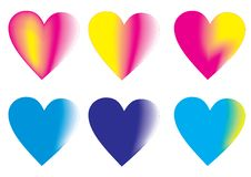 Vector Colorful Hearts Royalty Free Stock Images