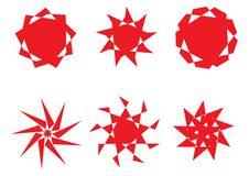 Free Retro Sun Icons Royalty Free Stock Photos - 6309998