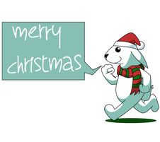 Free Rabbit Cartoon Christmas Illustration Royalty Free Stock Images - 63041579