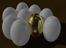 Free Golden Egg Stock Image - 6310031