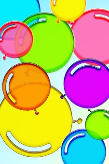 Free Colorful Balloons Royalty Free Stock Images - 6310609