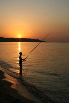 Free The Fisherboy On The Sea . Stock Photo - 6311070