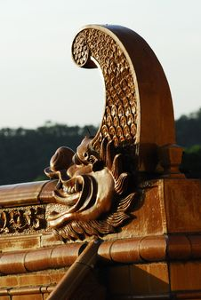 The Dragon Roof Royalty Free Stock Image