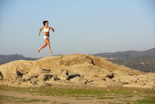 Free Woman Running Stock Image - 6312661