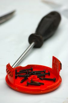 Free Screwdriver And Screws Royalty Free Stock Photography - 6312767