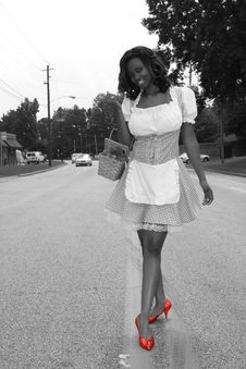 Free Modern Day Dorothy Ruby Shoes Royalty Free Stock Image - 6313746