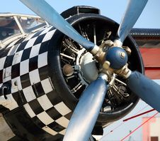 Propeller Of Old Airplane Royalty Free Stock Photography