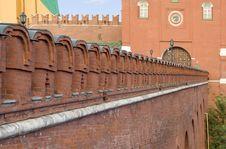 Kremlin Wal Royalty Free Stock Image