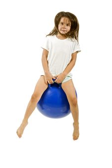 Free Young Girl On A Space Hopper Royalty Free Stock Image - 6314566