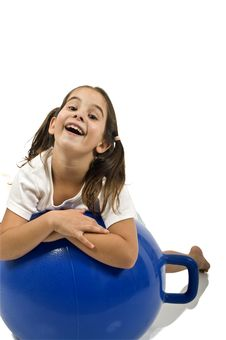 Free Young Girl On A Space Hopper Royalty Free Stock Photography - 6314657