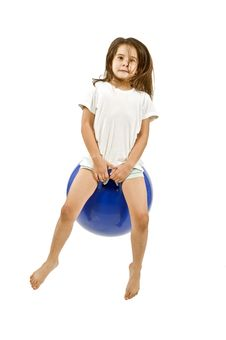 Free Young Girl On A Space Hopper Royalty Free Stock Photography - 6314697