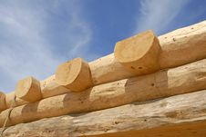 Log Home Construction Royalty Free Stock Photos