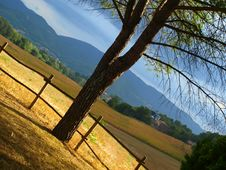 Sunset In Countryside Royalty Free Stock Images