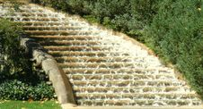 Water Down The Stairs Royalty Free Stock Photo