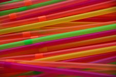 Colorful Party Straws Stock Photo
