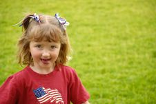 Free Little Girl Sticking Tounge Out Royalty Free Stock Photo - 6316355