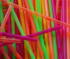 Colorful Party Straws Royalty Free Stock Photo