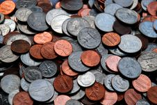 Free Pile Of Assorted US Coins Royalty Free Stock Photos - 6316378