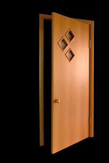 Free Door On Dlack Royalty Free Stock Photo - 6316445