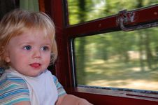 Free Toddler On Train Trip Royalty Free Stock Photos - 6316768