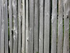 Old Wooden Slab Fence Stock Image