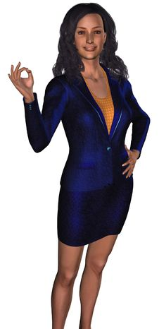 Free Businesswoman In A Blue Costume 3 Stock Photography - 6317862