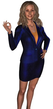Free Businesswoman In A Blue Costume 2 Royalty Free Stock Image - 6317876
