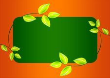 Free Green Leafs Banner Stock Photo - 6317880
