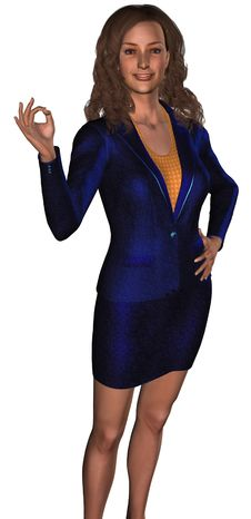 Free Businesswoman In A Blue Costume 1 Royalty Free Stock Image - 6317886