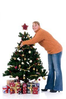 Free Happy Christmas Girl Stock Photos - 6317943