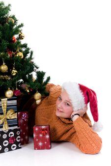 Free Happy Christmas Girl Royalty Free Stock Photography - 6318047