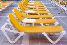 Free Yellow Loungers Stock Image - 6318101