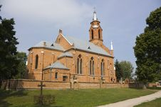 Free The Gothic Church In Kernava Stock Photography - 6318442