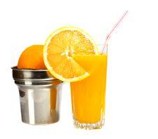 Free Glass Of Orange Juice Royalty Free Stock Photo - 6318855