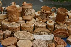 Free Wooden Souvenirs Royalty Free Stock Photos - 6319318