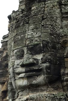 Free Buddha Face In Angkor Thom In Cambodia Royalty Free Stock Images - 6319819