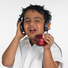 Free Boy Biting An Red Apple Royalty Free Stock Photo - 6319985
