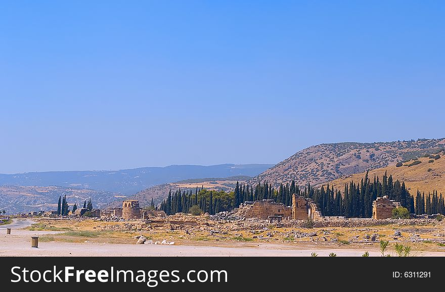 Ruins of ancient greek town