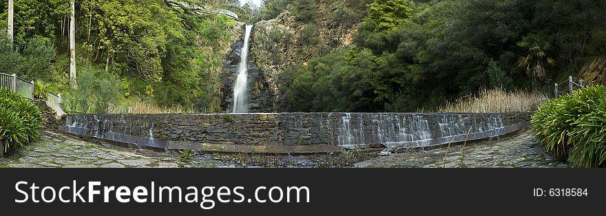Waterfall with peir
