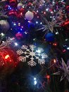 Free Decorations And Lights On A Christmas Tree In Bryant Park. Royalty Free Stock Photography - 63191637