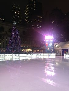 Free Ice Skating Rink At Bryant Park In The Evening. Royalty Free Stock Photo - 63191675