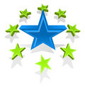 Free Vector Illustration Of Glossy Stars Royalty Free Stock Photography - 6327187