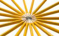 Free Vibrant Ring Of Yellow Pencils Royalty Free Stock Photo - 6328845