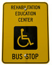 Free Yellow Handicap Sign Royalty Free Stock Photos - 6329608