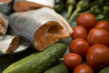 Free Fresh Red Salmon Fish Stock Photo - 6320070